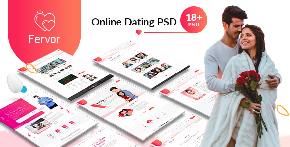 Fervor Dating PSD Template
