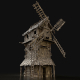 Wooden Enterable Windmill
