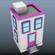 Low Poly Cartoon Buildings - 3DOcean Item for Sale