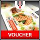 Restaurant Gift Voucher - GraphicRiver Item for Sale