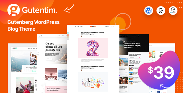 Gutentim - Modern Gutenberg WordPress Blog Theme