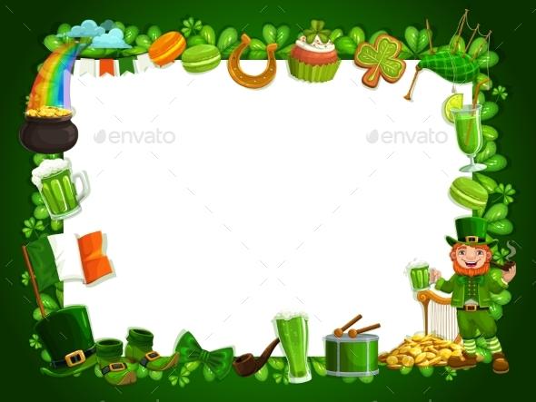 Irish Patricks Holiday Festival Shamrocks Frame