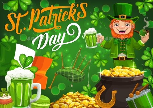 Leprechaun Celebrating Saint Patricks Day