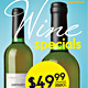 Wine Specials Stand Up - GraphicRiver Item for Sale