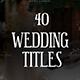 Romantic Titles | After Effects - VideoHive Item for Sale