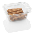 cinnamon in a transparent plastic container isolated on a white background with clipping path - PhotoDune Item for Sale