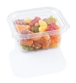 fruit jellies marmalade in a plastic food box, isolated on a white background with clipping path - PhotoDune Item for Sale
