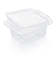 Empty open transparent plastic food container isolated on white with clipping path - PhotoDune Item for Sale