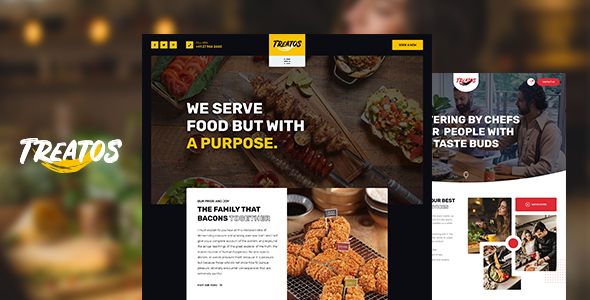 Treatos – Authentic Restaurant Theme Preview