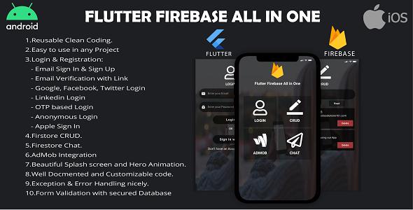 Flutter Firebase All In One Kit Download