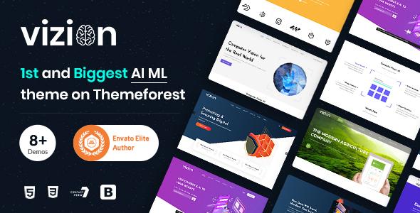 Vizion - AI Startups Responsive HTML5 Template