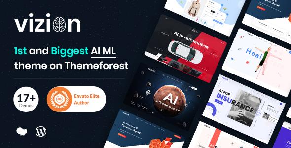 Vizion - AI Startups Responsive WordPress Theme