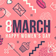 8 March International Women's Day Greeting Card - GraphicRiver Item for Sale