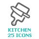 Kitchenware and Utensil Mini Icon - GraphicRiver Item for Sale