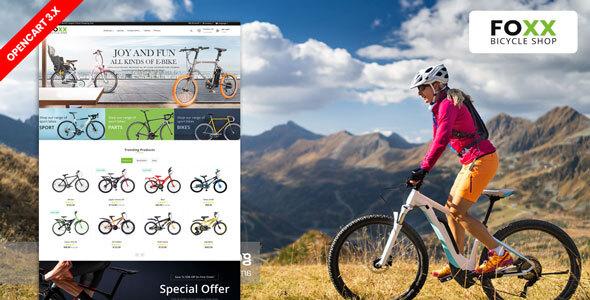 Foxx Bike & Bicycle responsive Theme