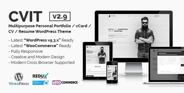 CVIT | Multipurpose Personal Portfolio / vCard / CV / Resume WordPress Theme