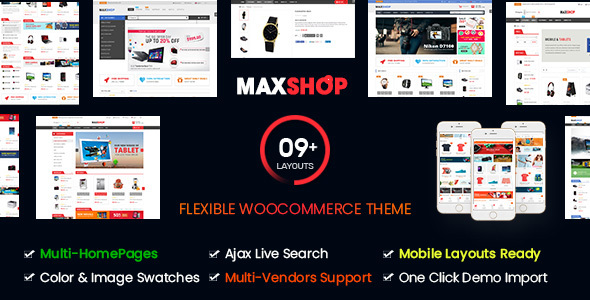 Maxshop | Multi-Purpose Responsive WooCommerce Theme (9+ Homepages & Mobile Layouts Ready)