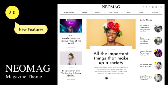 NeoMag - News and Magazine WordPress Theme
