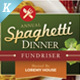 Spaghetti Dinner Flyer Templates - GraphicRiver Item for Sale