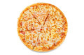 Pizza with cheese and tomato sauce isolated - PhotoDune Item for Sale