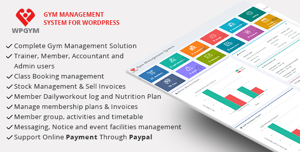 WPGYM - Wordpress Gym Management System Download