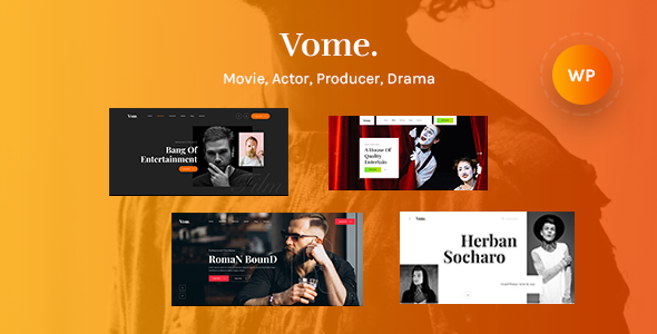 Vome – Multipurpose Film Studio Movie Production WordPress Theme Preview