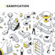 Gamification Isometric Outline Illustration - GraphicRiver Item for Sale