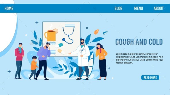 Sick People Need Doctor Advise Landing Page Design