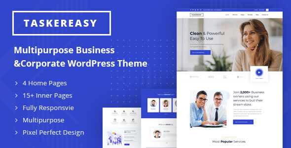 Taskereasy - Multipurpose Business & Corporate WordPress Theme