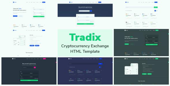 Tradix - Cryptocurrency Exchange HTML Template + Admin Dashboard + Light & Dark