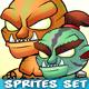 6 Orcs Game Sprites Set - GraphicRiver Item for Sale