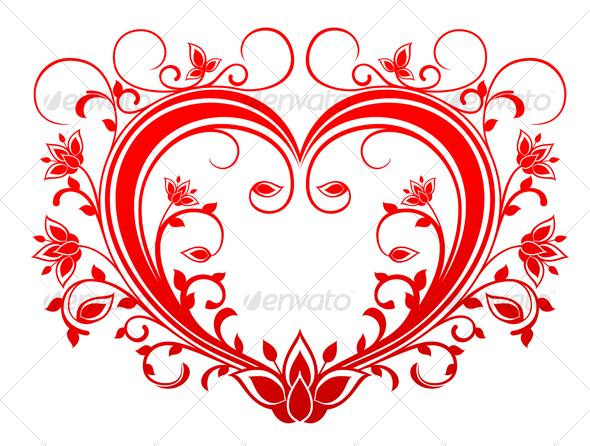 Red valentine heart