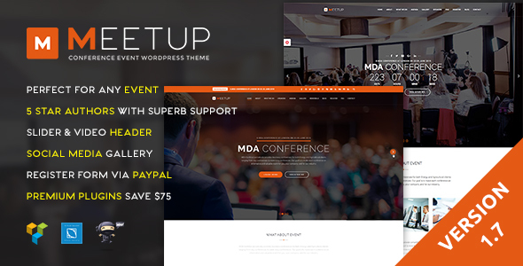 Meetup - Conference Event WordPress Theme
