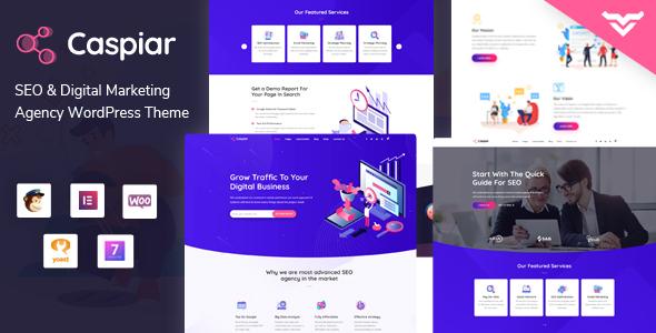 Caspiar   Digital Marketing & Agency WordPress Theme