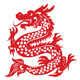 Papercut Dragon - GraphicRiver Item for Sale