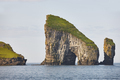 Faroe islands coastline landscape in Vagar island on sunny day - PhotoDune Item for Sale