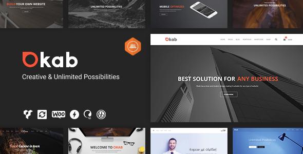 Okab - Responsive Multi-Purpose WordPress Theme + RTL