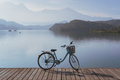 Bicycle on Sun Moon lake bike trail, Travel lifestyle concept - PhotoDune Item for Sale