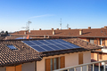Solar panel on a red roof - PhotoDune Item for Sale