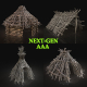 AAA NEXT GEN FOREST WOODS SHELTER PACK COLLECTION - 3DOcean Item for Sale