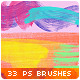 33 Watercolor Stains Stripes Paint Splatters Photoshop Brushes - GraphicRiver Item for Sale