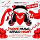 Valentine`s Day Party Square Flyer vol.1 - GraphicRiver Item for Sale
