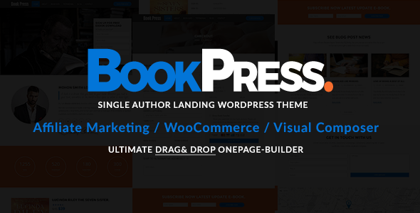BookPress Single Author WP Landing Theme