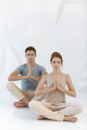 Young couple in yoga pose - PhotoDune Item for Sale