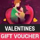 Valentines gift voucher - GraphicRiver Item for Sale