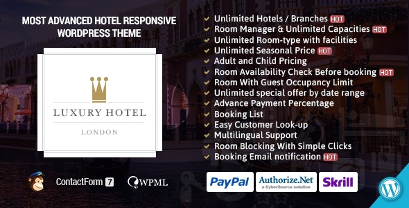 Luxury Online Hotel Booking Reservation