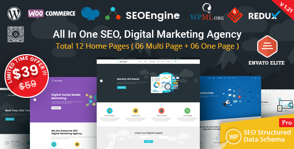 SEO Engine - Digital Marketing Agency WordPress Theme