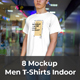 7 Mockups T-Shirts on the Man Indoor - GraphicRiver Item for Sale