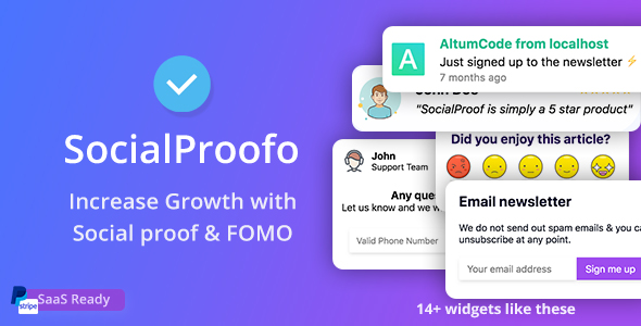 Codecanyon | SocialProofo - 14+ Social Proof & FOMO Notifications for Growth (SaaS Platform) Free Download free download Codecanyon | SocialProofo - 14+ Social Proof & FOMO Notifications for Growth (SaaS Platform) Free Download nulled Codecanyon | SocialProofo - 14+ Social Proof & FOMO Notifications for Growth (SaaS Platform) Free Download