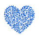 Vector Blue Floral Watercolor Heart - GraphicRiver Item for Sale